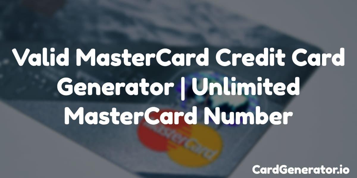 Credit Card Hacks Free Credit Card Creditcard Valid Mastercard