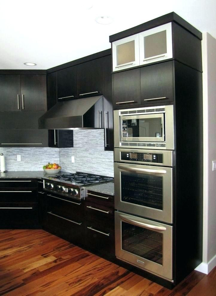 Built In Double Ovens With Microwave Oven Combo Kitchen Design