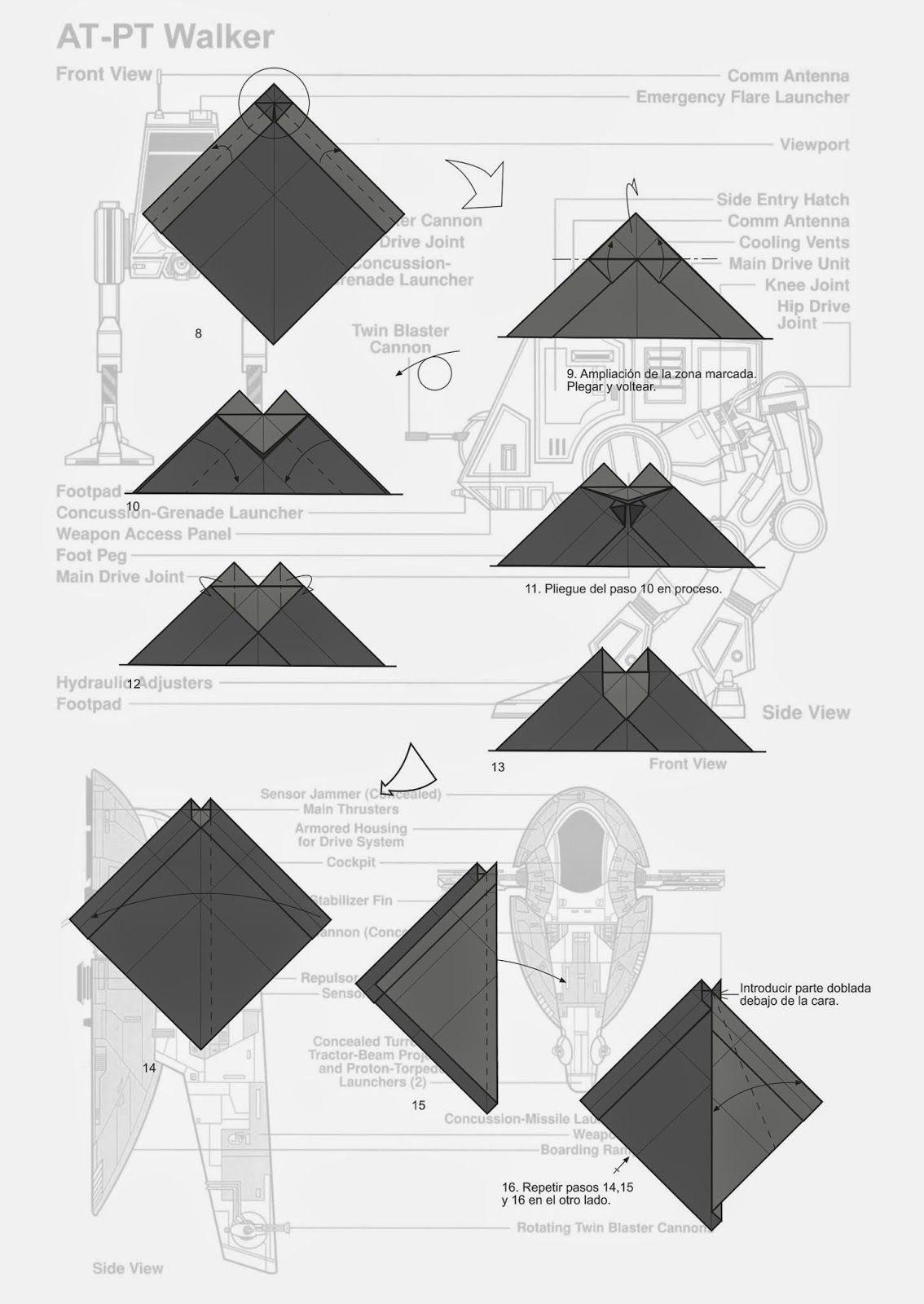 Darth Vader Origami Diagram Art Pinterest Origami Origami