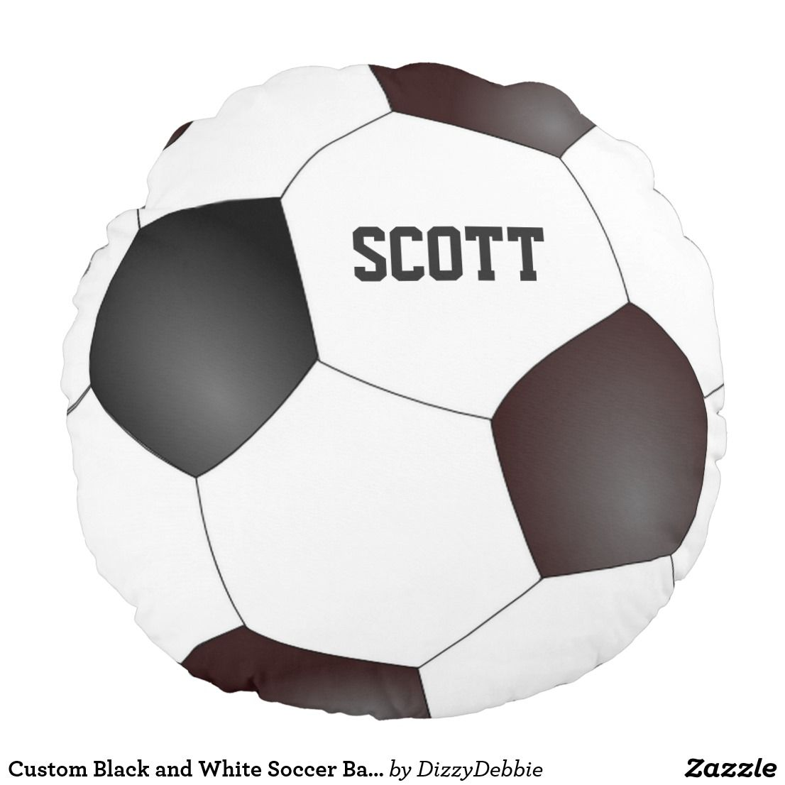 custom black and white soccer ball pillow pinterest soccer ball