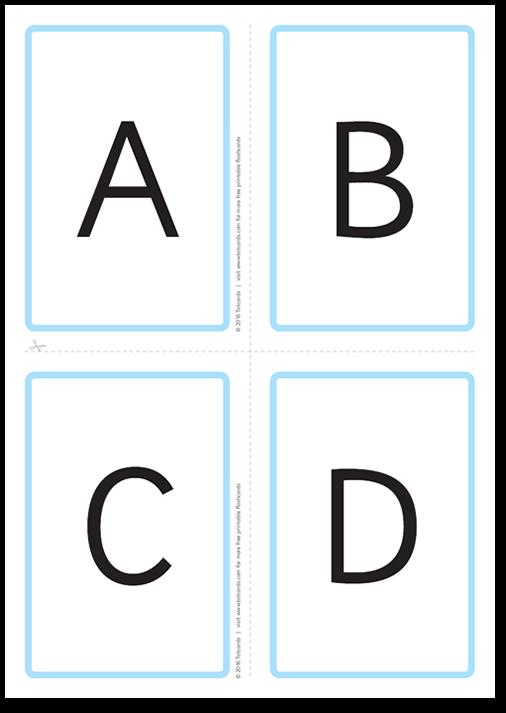 Free Alphabet Cards More Free Printable Alphabet Letters Alphabet Flashcards Flashcards