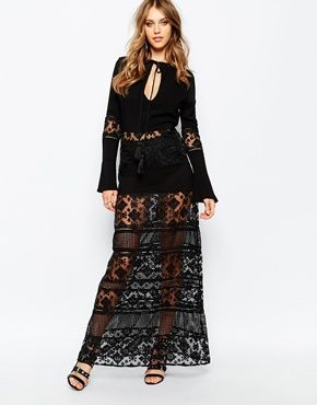 bfe7350d619d8 Stevie May San Antonio Long Sleeve Maxi Dress in Black