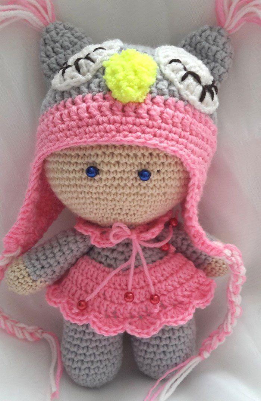 Muñeca amigurumi patrón de crochet libre | amigurumi | Pinterest ...