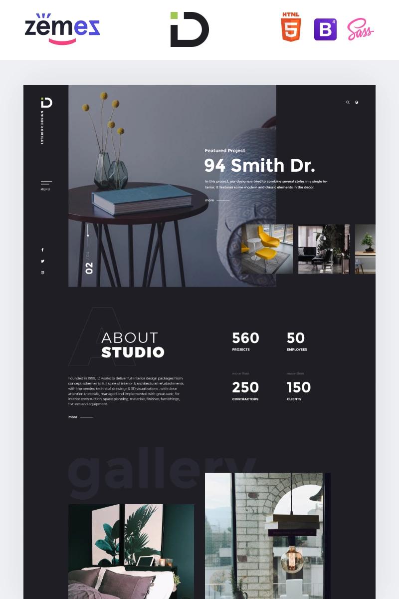 Interior Design HTML Template -  Interior Design – Stylish HTML Bootstrap4 Landing Page Template #85059 #interiordesign #interiort - #design #GardenDesign #HTML #interior #ModernInteriorDesign #template #WebDesign
