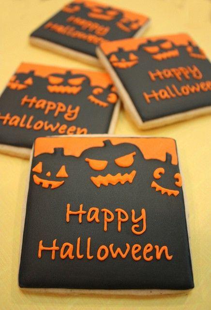 .sablés décorés halloween