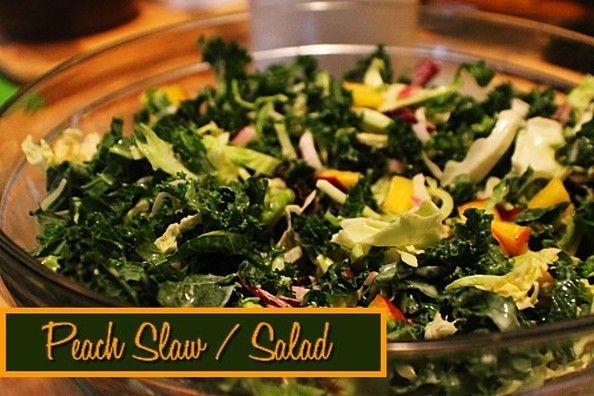 Peach Coleslaw / Salad http://www.momspantrykitchen.com/peach-coleslawsalad.html