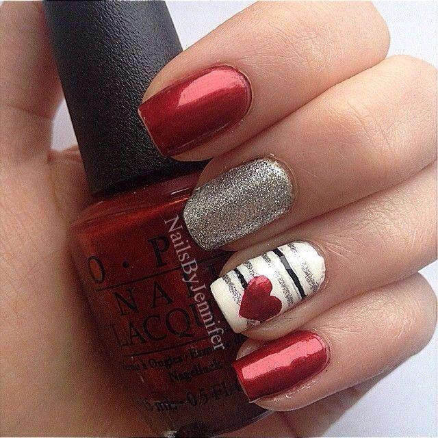 San Valentin Romantic Nails Trendy Nails Nail Designs Valentines