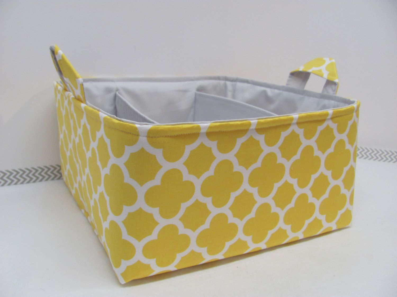 NEW Fabric Diaper Caddy - Fabric organizer storage bin basket ...