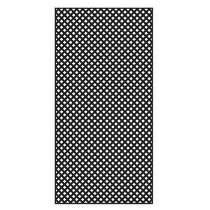 Veranda 4 Ft X 8 Ft Black Privacy Diamond Vinyl Lattice Framed 73004479 The Home Depot In 2020 Decorative Screen Panels Plastic Lattice Black Vinyl