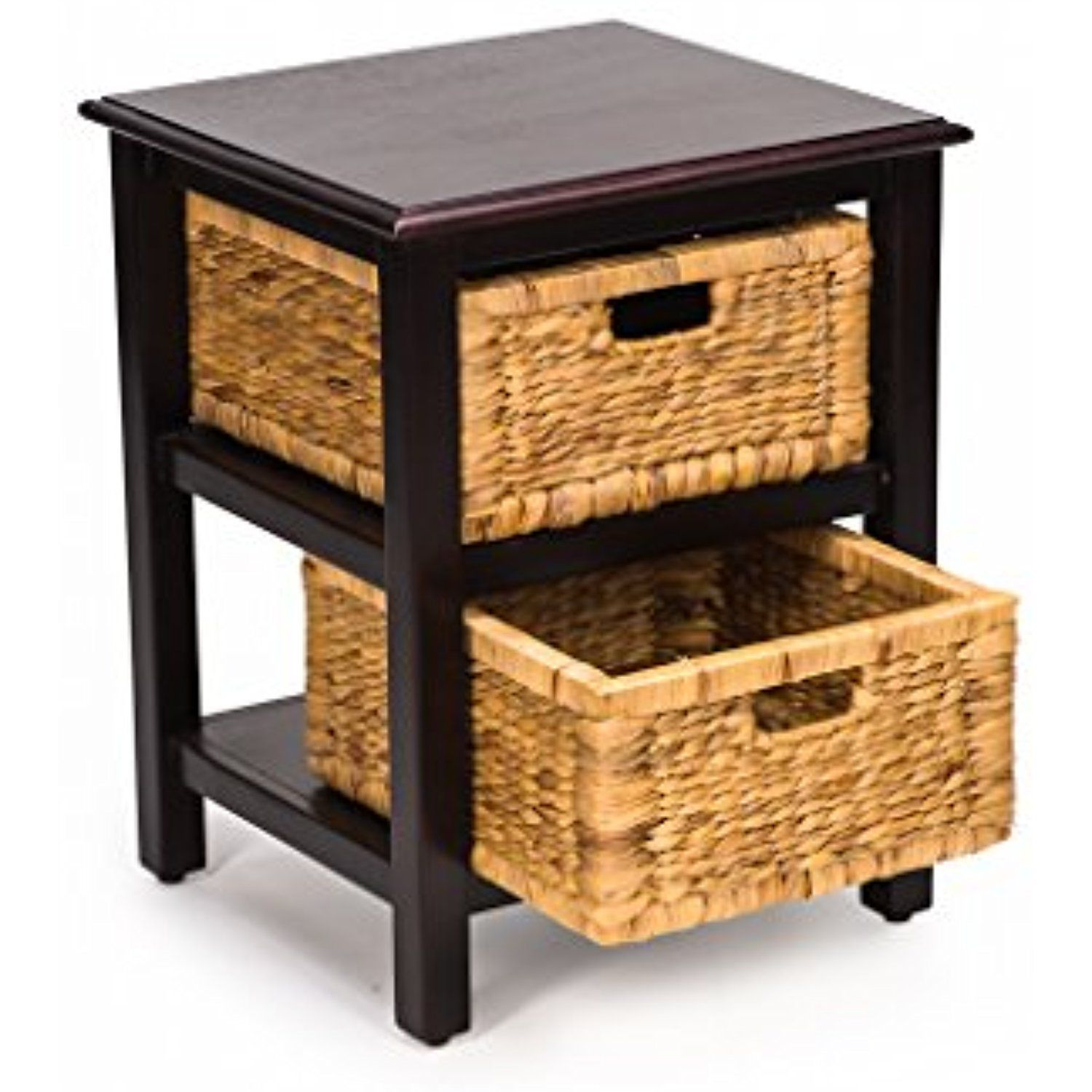 Castlencia Oriental Rustic Accent Side Table With 2 Removable Fine