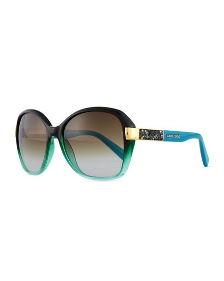 d880b727ef00 JIMMY CHOO Alana Colorblock Round Butterfly Sunglasses