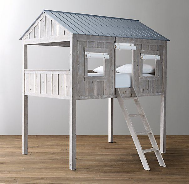 Restoration Hardware Baby and Child Cabin Loft Bed in Weathered