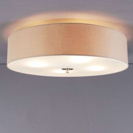 Deckenleuchte Drum 50 rund beige #Deckenlampe #Lampe