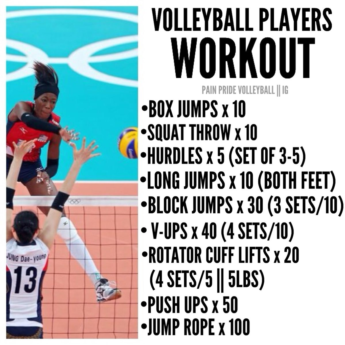 Pin By Fitbuddy On Volleyball Volleyball Workouts Volleyball Training Beach Volleyball Workout