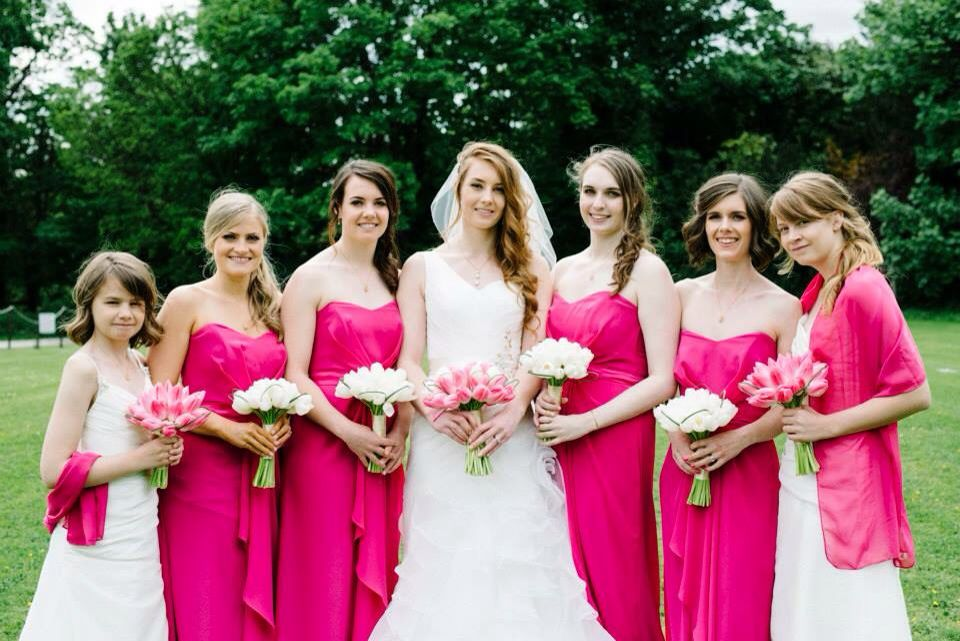 Fuchsia bridesmaid dresses | Bridesmaid dresses | Pinterest