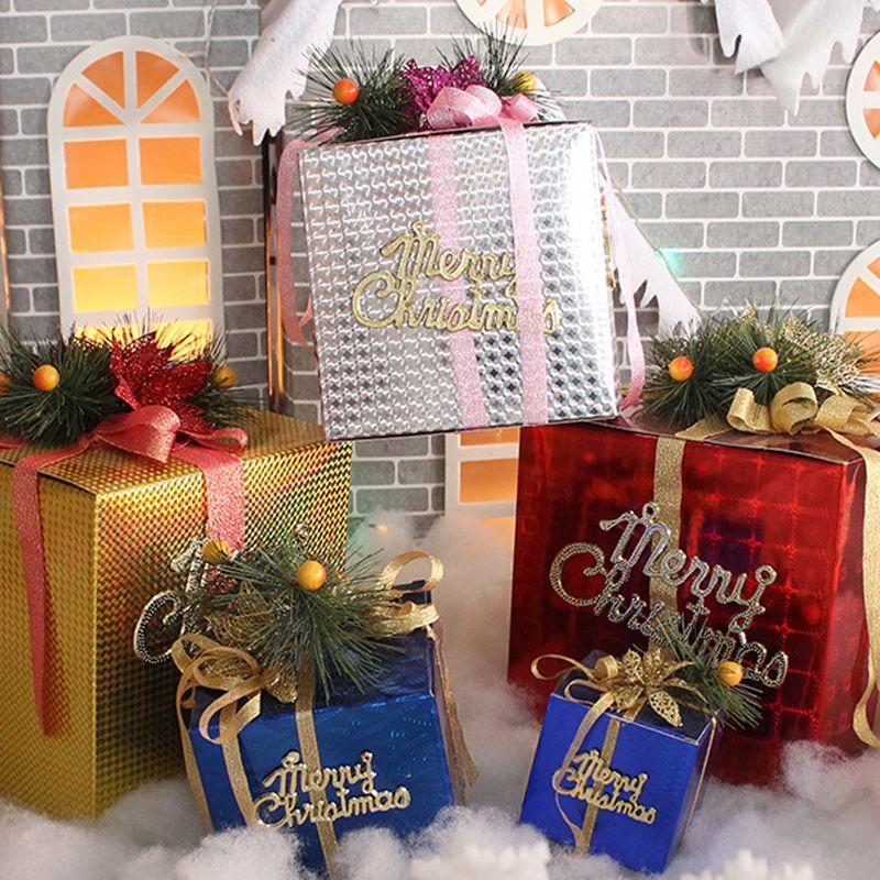 Holiday Display Foldable Gifts Boxes Christmas Outdoor Christmas