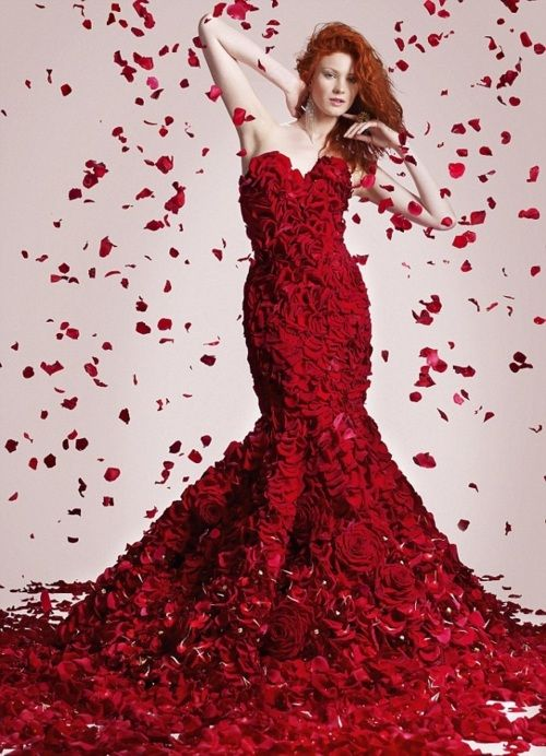 price reduced no sale tax great quality Stunning dress made from real roses by UK super market ASDA ...
