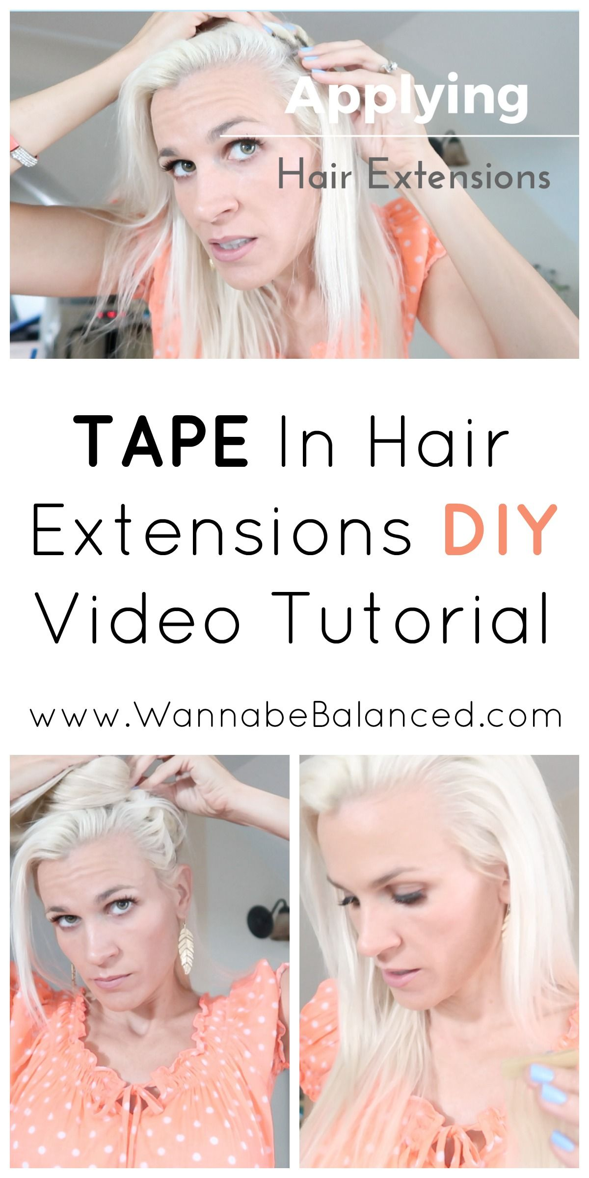 How To Put In Tape Hair Extensions Yourself Images Hair Extensions