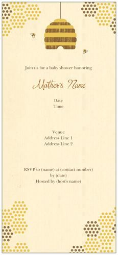 Bee Invitations