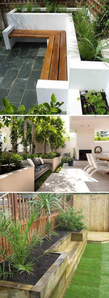Built In Benches In Almost Anywhere Of A Home: Best Backyard Seating Wall Outdoor Benches 38 Ideas #backyard