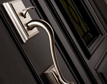 Schlage Decorative Collections Addison Handleset In Satin Nickel   Modern    Windows And Doors   Schlage