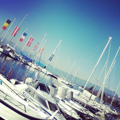 #bardolino #verona #italy #boat #lake #garda #sky #spring