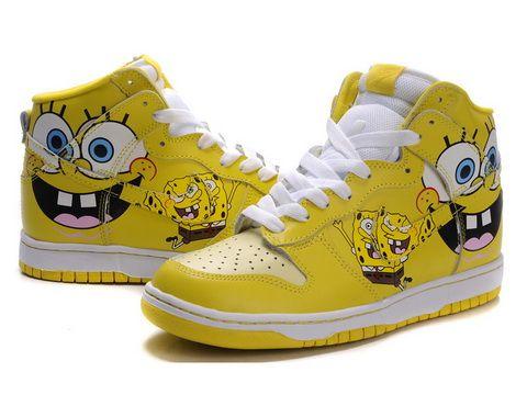 ... High Tops For Girls Cartoon Nikes Spongebob High Tops For Girls Spongebob  Nike Dunks .
