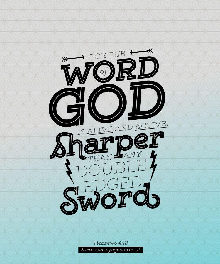 Memory Verse Hebrews 412 Surrender My Agenda Christian - agenda word