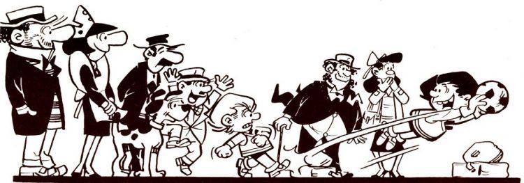 Escobar reunió a sus principales personajes en esta ilustración
