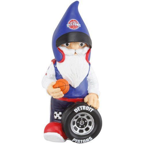 """NBA Detroit Pistons Team Mascot Gnome by Football Fanatics. $24.95. Team colors and logo. Approximately 11.5"""" x 5"""" x 5"""". Imported. Hand-painted resin figurine. Detroit Pistons Team Mascot GnomeHand-painted resin figurineTeam colors and logoOfficially licensed NBA productApproximately 11.5"""" x 5"""" x 5""""ImportedApproximately 11.5"""" x 5"""" x 5""""Hand-painted resin figurineTeam colors and logoImportedOfficially licensed NBA product"""