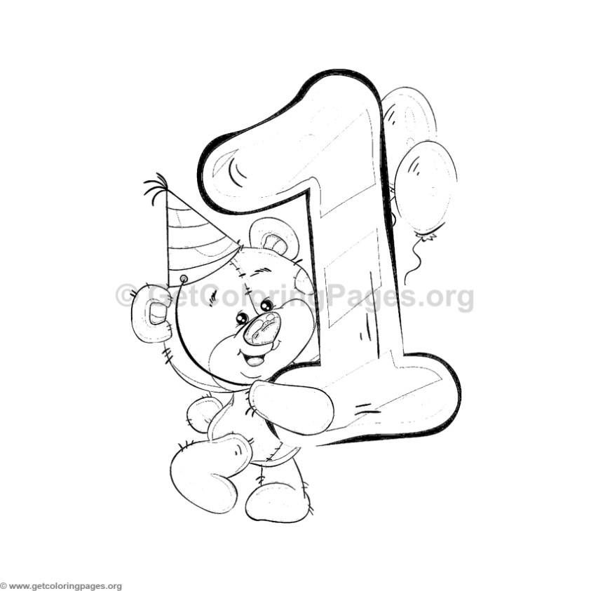 Teddy Bear Number One Coloring Pages Coloring Pages Coloring Books Digi Stamps