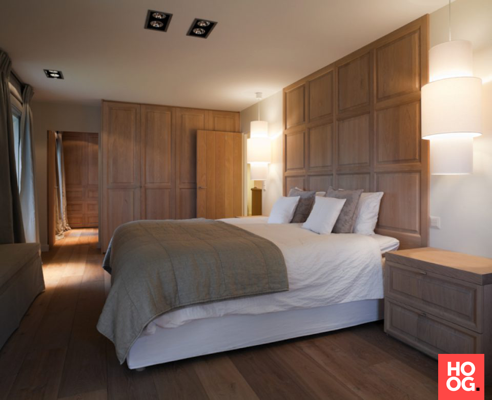Slaapkamer landelijke stijl met inbouwkasten | slaapkamer design ...