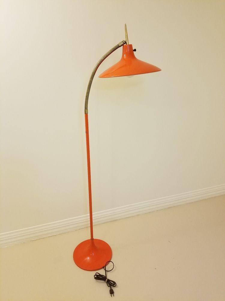 Authentic 1950 S 1960 S Era Retro Mid Century Modern Orange Floor