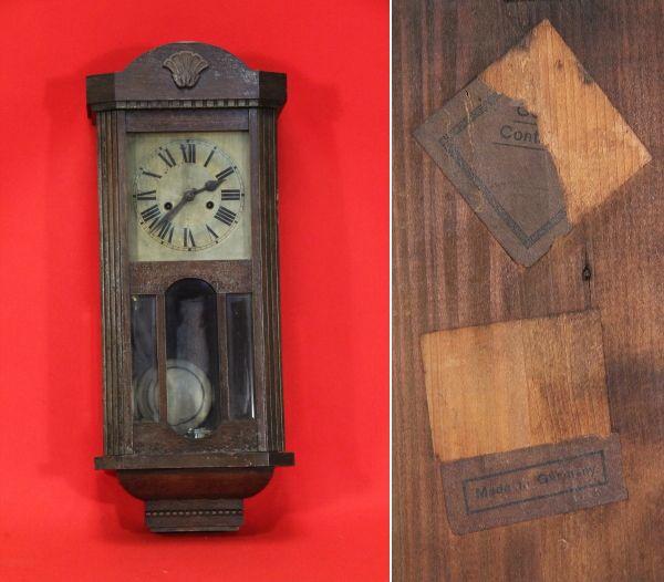 現状扱い時代骨董ドイツ製柱時計 検索アンティーク Watch wall clock ¥28000円 〆03月20日