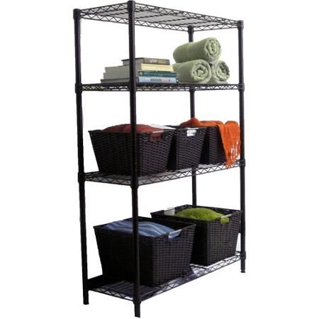 Utility Shelves Walmart Amusing Trinity 4Tier Wire Shelving Rack Bronze  Walmart  Ag Decorating Design