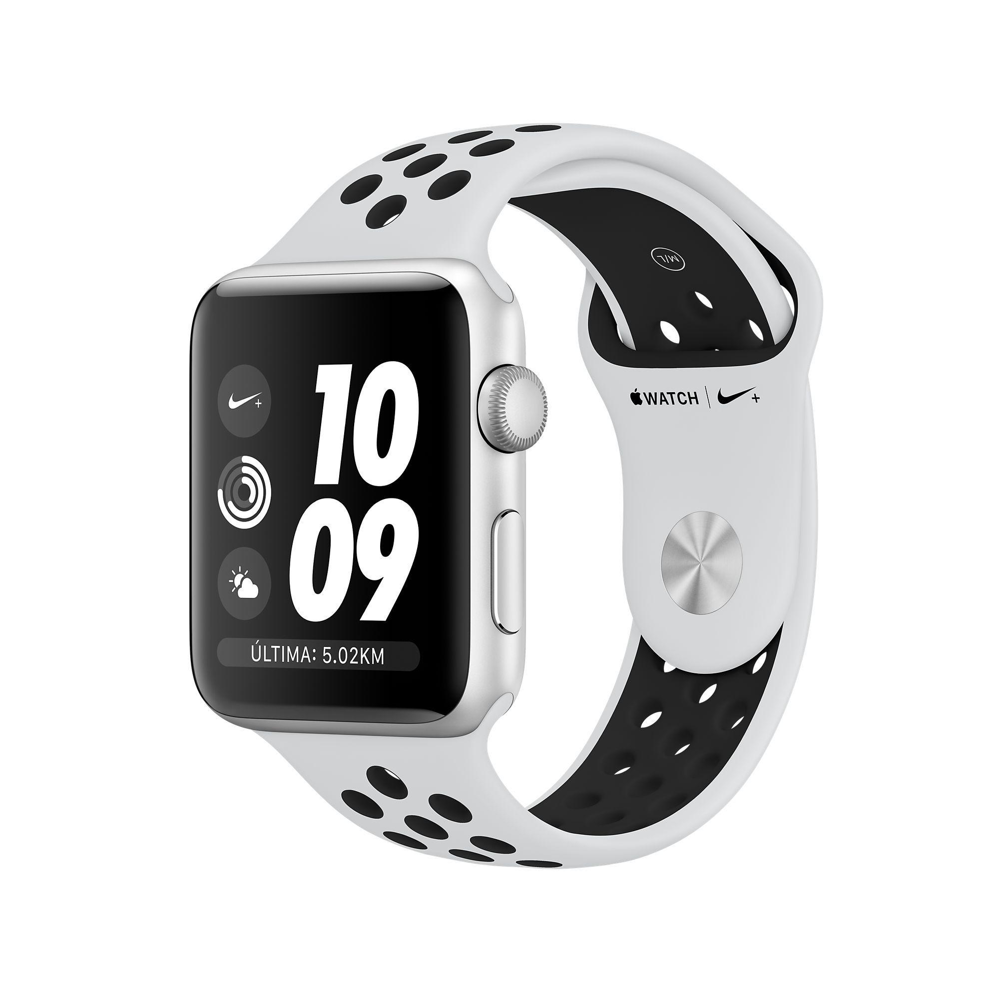 Compra El Apple Watch Nike Con Caja De Aluminio Color Plata De 38 Mm O 42 Mm Y Correa Deportiva Nike Gris C Apple Watch Series 3 Apple Smartwatch Apple Watch