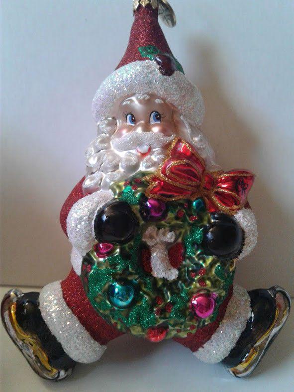 christopher radko christmas ornament ice skating santa skates glass wreath cr christmas decor goodies pinterest christopher radko - Ice Skating Christmas Ornaments