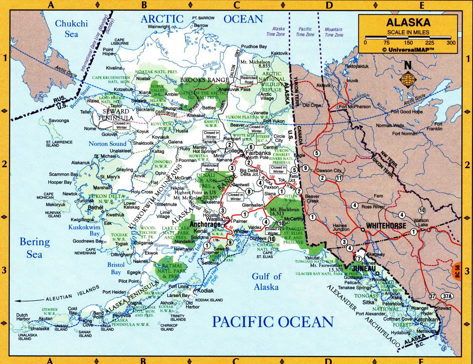 Geographic map of Alaska state Maps in 2019 Alaska