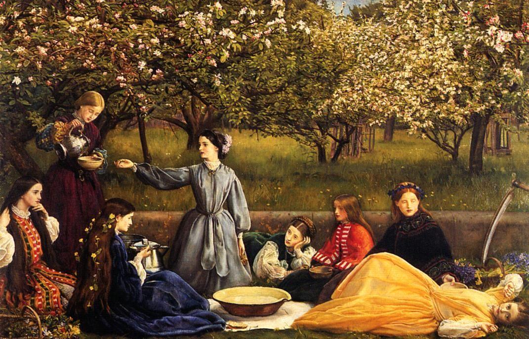 Apple Blossoms, 1856-1859 - John Everett Millais - WikiPaintings.org