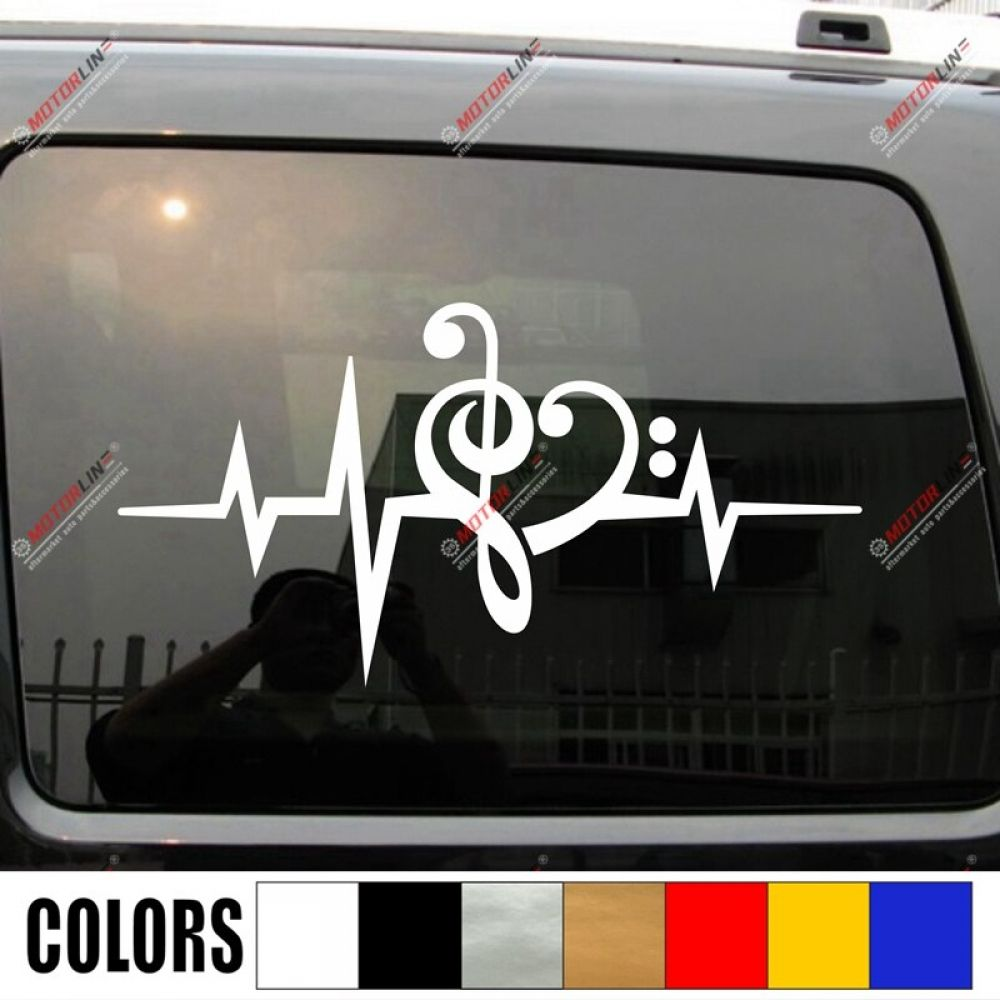 Music Note Heart Beat Love Clef Decal Sticker Car Vinyl Pick Size Color Price 10 00 Free Shipping Musigifts Music Note Heart Music Notes Car Stickers [ jpg ]