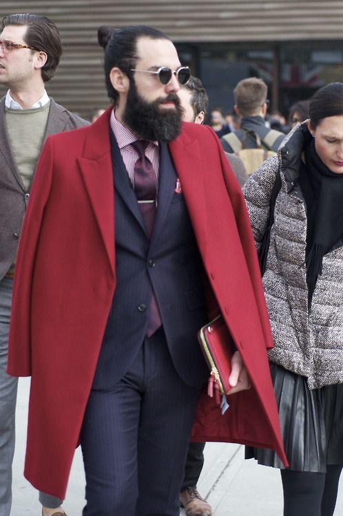 Men's street fashion. Pitti Uomo 85 2014  Florence, Italy