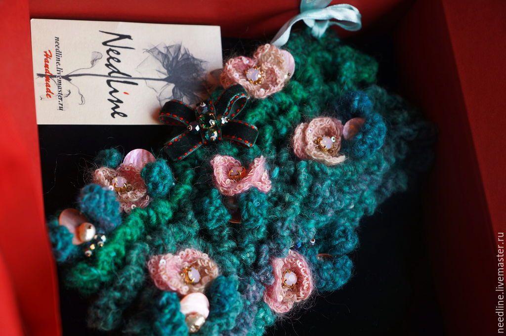 """Купить Резерв )браслет-манжета """" Весна для Инги"""" - тёмно-зелёный, авторский браслет"""