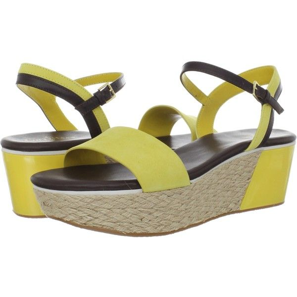 Womens Sandals Cole Haan Arden Wedge Sunlight Nubuck