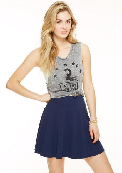 Solid Skater Skirt - Skirts - Clothing - dELiA*s