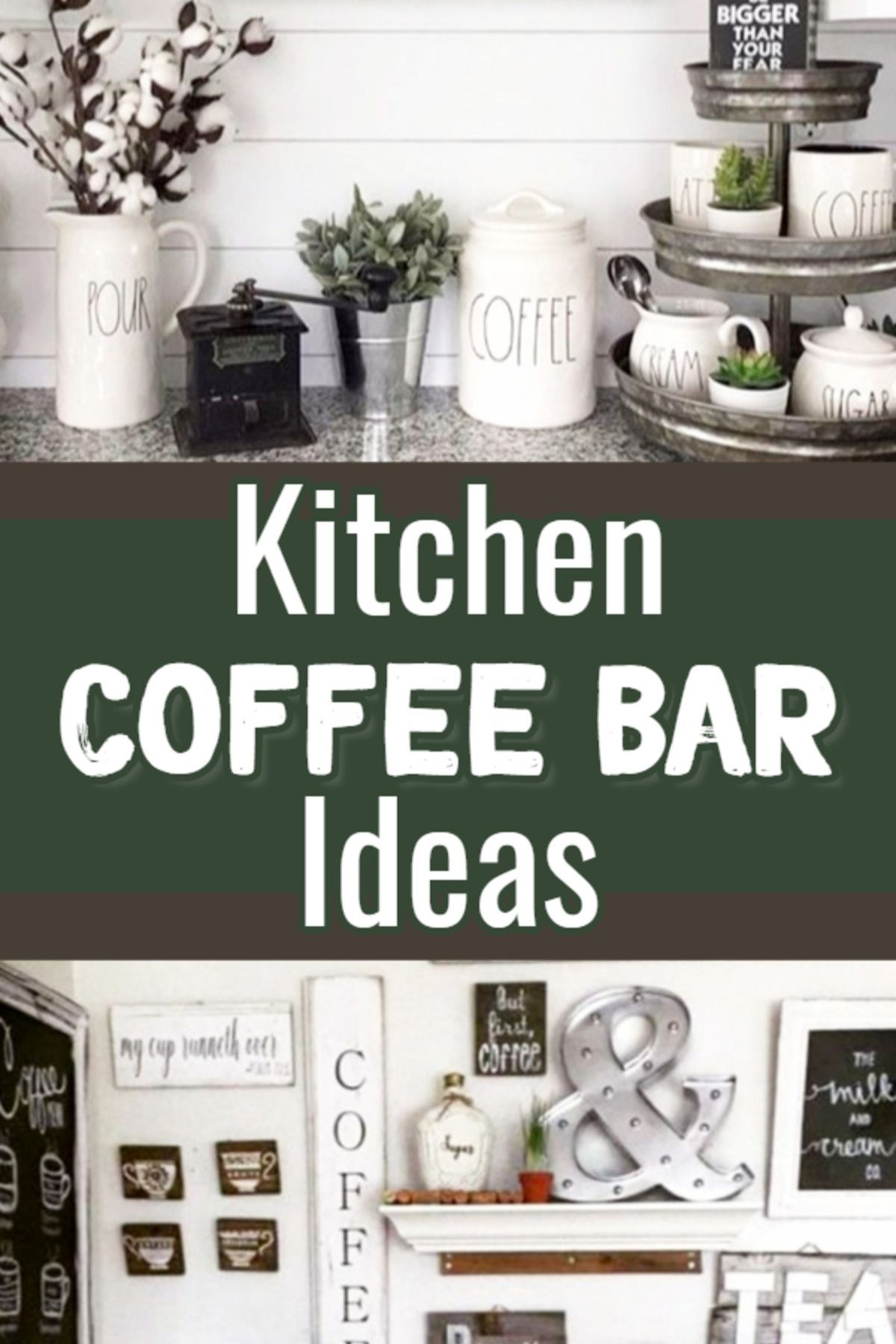 DIY Coffee Bar Ideas - Stunning Farmhouse Style Beverage ...