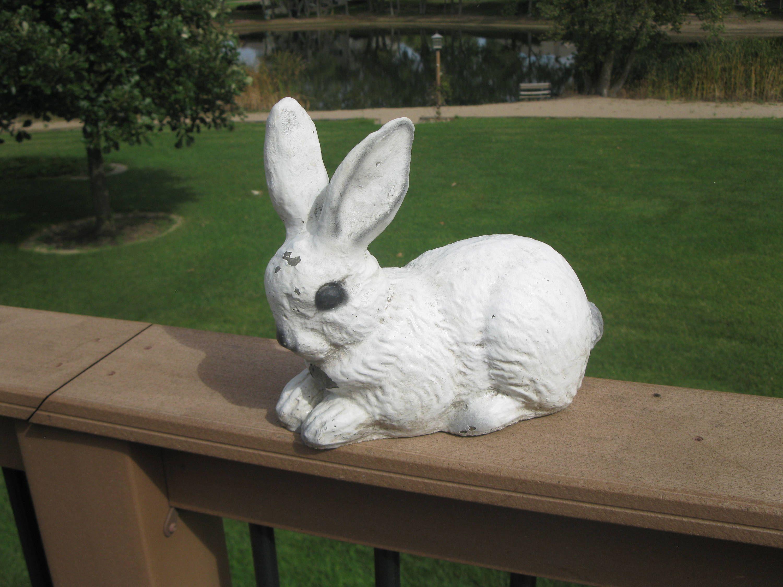 Vintage CEMENT rabbit -10\
