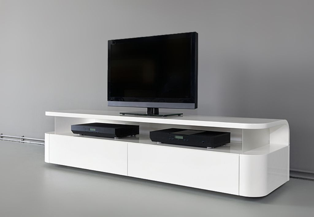 Minimal White Stand Apartment Decor Ideas Swivel Tv Stand White