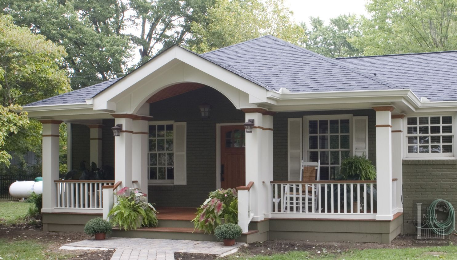 front porch ideas for low pitch roofs - Google Search  Porch roof
