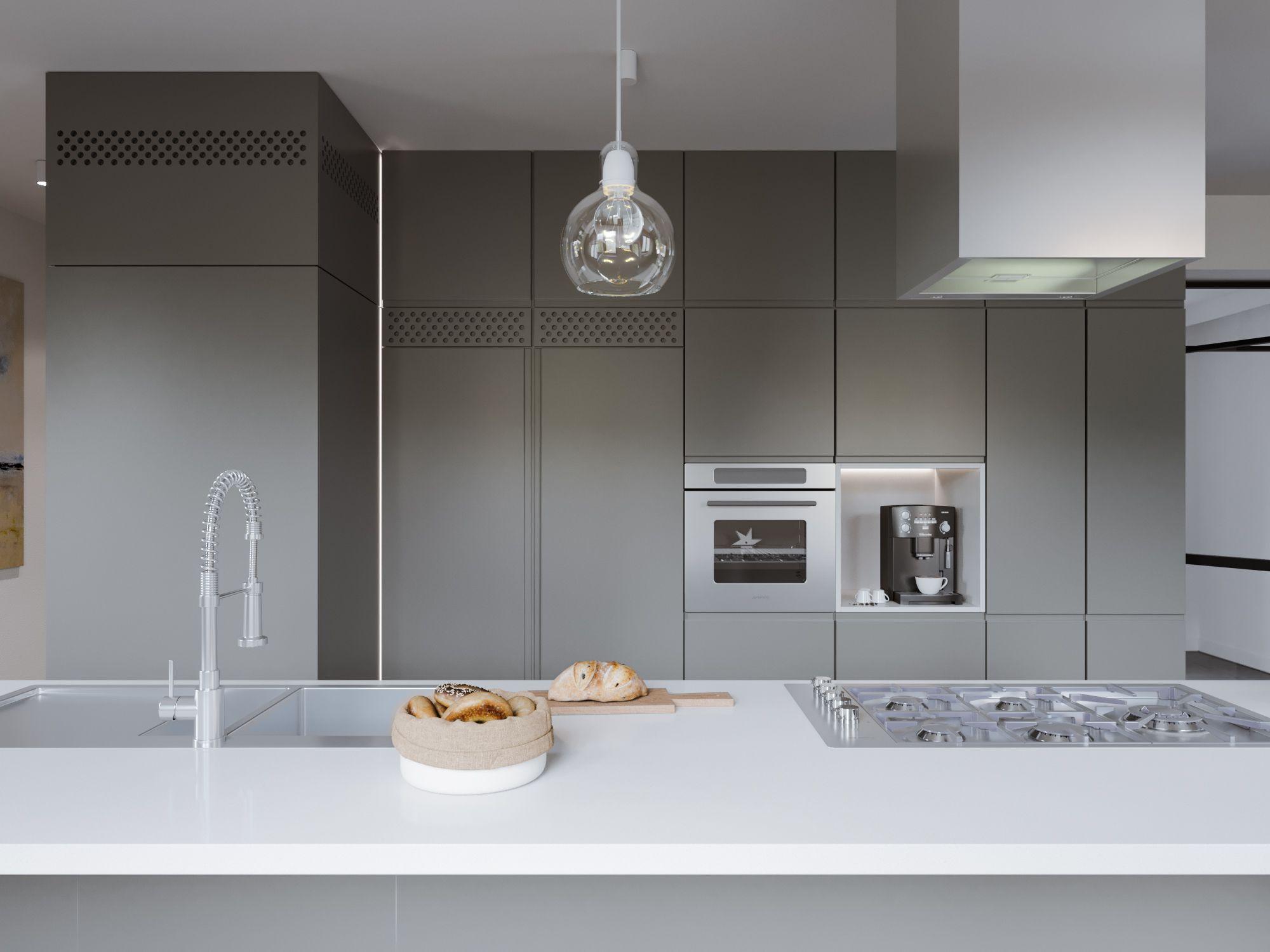 Wunderbar Beleuchtungsmöglichkeiten Für Die Küche Mit Gewölbter ...