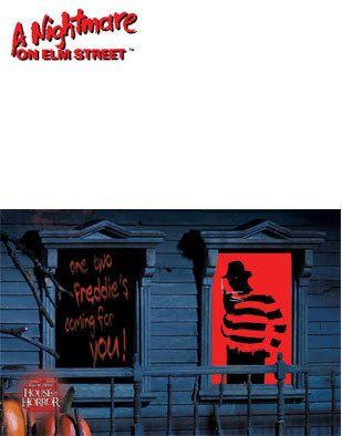Freddy Krueger Halloween Window Silhouette Decals Could totally diy